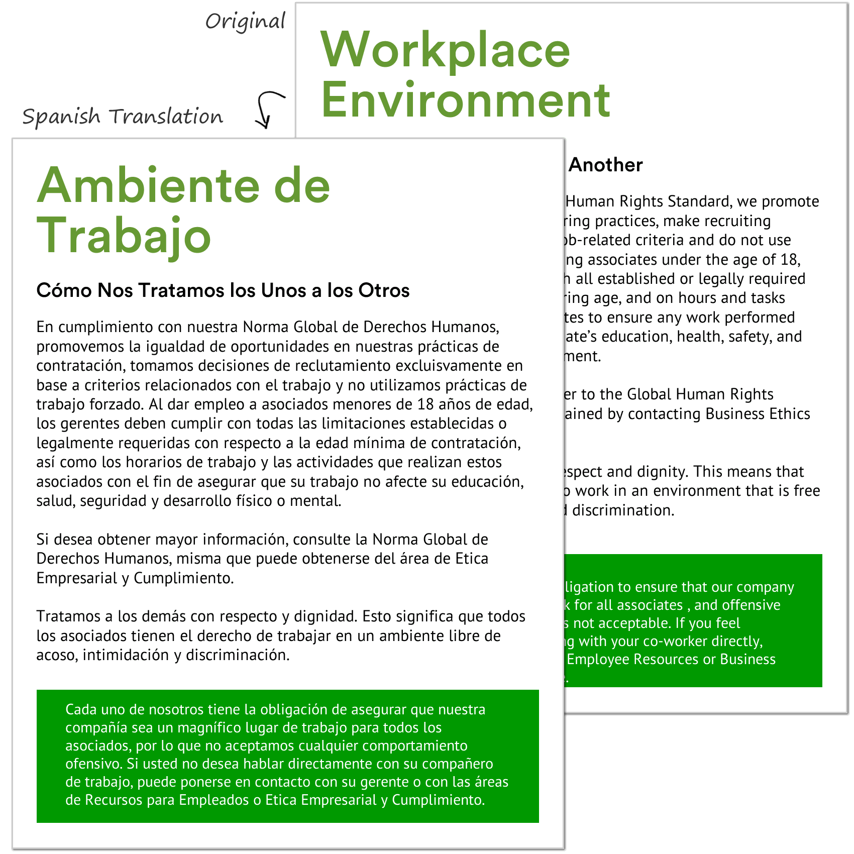 Sample Translation of Employee Manual
